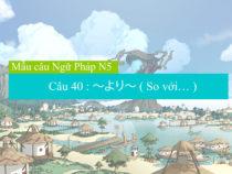 [ Mẫu câu ngữ pháp N5 ] Câu 40 : ~より~ ( So với… )